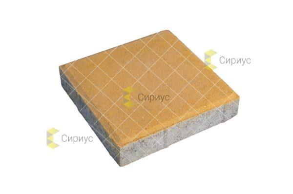 Желтая тротуарная плитка, квадрат 2К4
