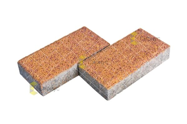 Тротуарная плитка (брусчатка), листопад 2П4, мраморная крошка