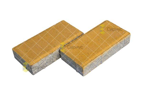 Желтая тротуарная плитка (брусчатка) 2П4