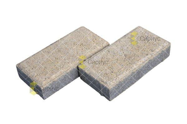 Белая тротуарная плитка (брусчатка) 2П4, имитация гранита