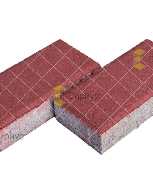 Красная тротуарная плитка (брусчатка) 2П4