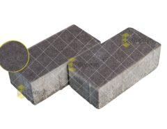 Черная тротуарная плитка (брусчатка) 2П8