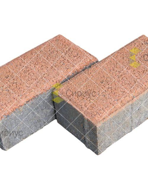 Оранжевая тротуарная плитка (брусчатка) 2П4, имитация гранита