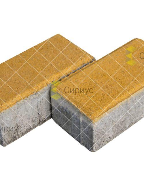 Желтая тротуарная плитка (брусчатка) 2П8