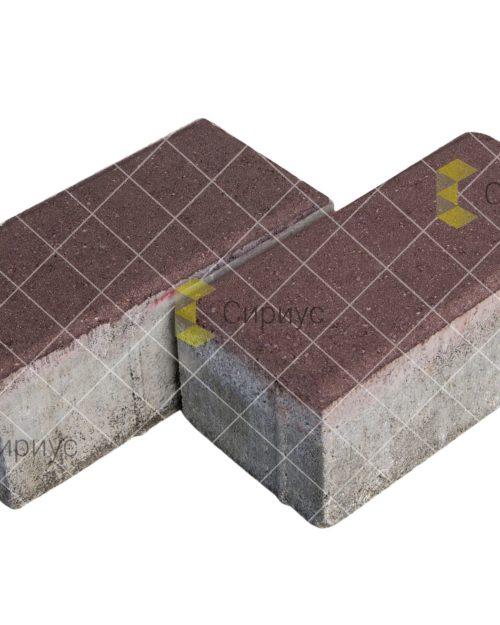 Коричневая тротуарная плитка (брусчатка) 2П8