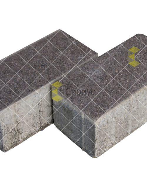 Черная тротуарная плитка (брусчатка) 200.100.100