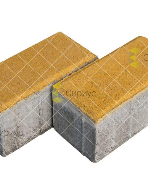 Желтая тротуарная плитка (брусчатка) 200.100.100