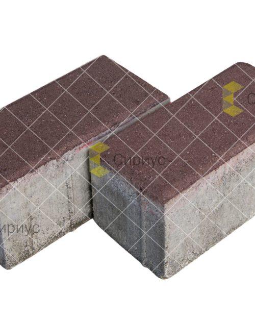 Коричневая тротуарная плитка (брусчатка) 200.100.100