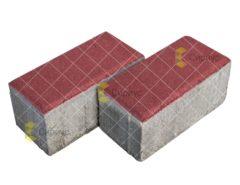 Красная тротуарная плитка (брусчатка) 200.100.100