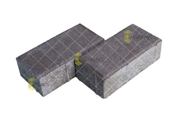 Коричневая тротуарная плитка (брусчатка) 2П6