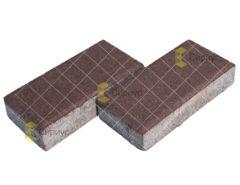 Коричневая тротуарная плитка (брусчатка) 2П4