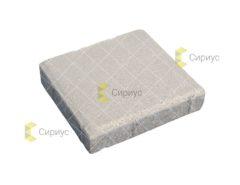 Белая тротуарная плитка, квадрат 2К4