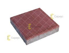 Красная тротуарная плитка, квадрат 2К4